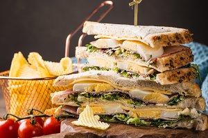 Fresh club sandwich