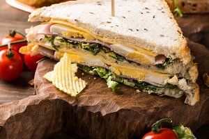 Fresh club sandwich