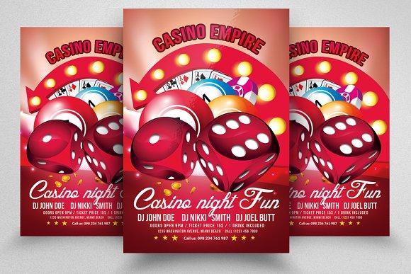 Casino Flyer Templates