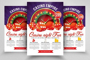 Casino Night Editable Flyer Template