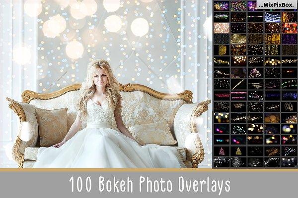 100 Bokeh Photo Overlays