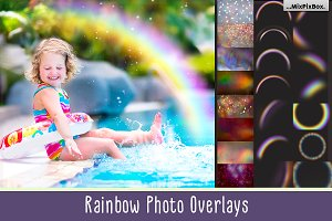 Rainbow overlays & textures