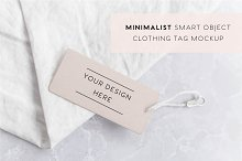 Minimalist Clothing Tag Mockup