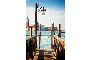 Pier in the Grand Canal, Venice