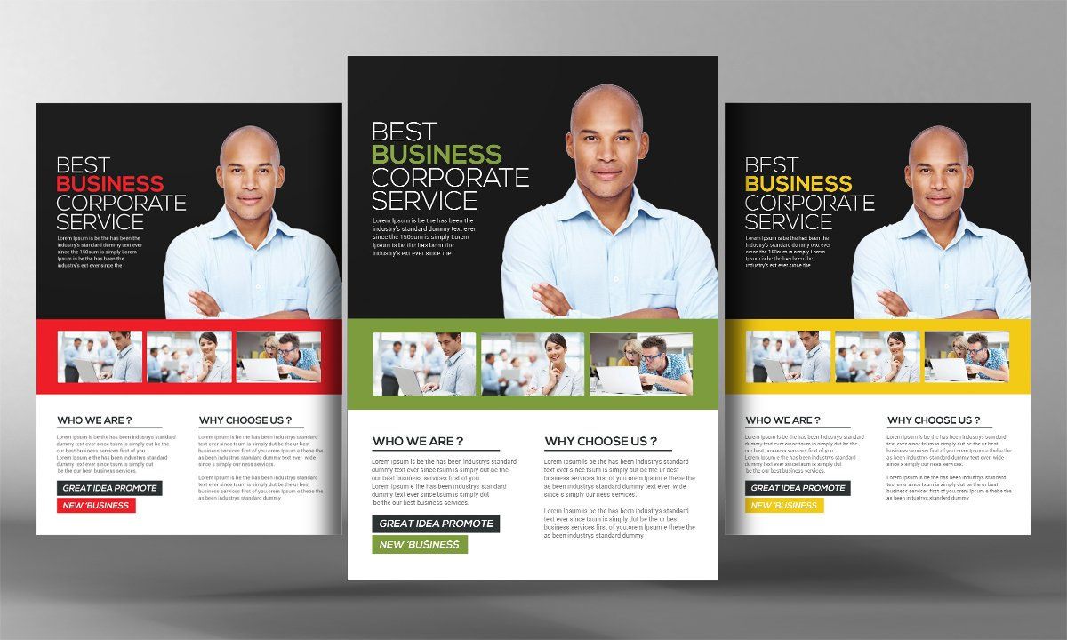 Business services flyer template flyer templates creative market wajeb Images