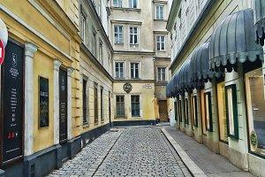 Empty Street in Vienna