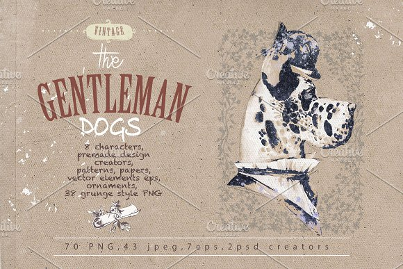GENTLEMAN DOGS SET