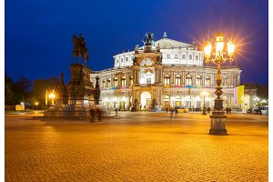 Opera house of Dresden, Germany