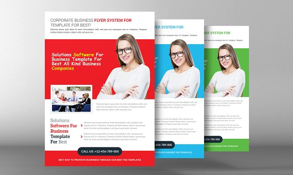 Corporate Business Flyer Template Flyer Templates Creative Market