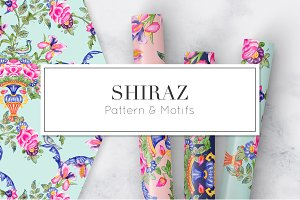 Shiraz, a watercolor floral print!