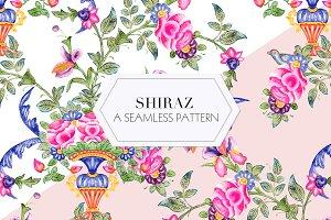 Shiraz, a watercolor floral print!