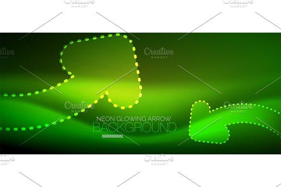 Neon Techno Arrow Digital Abstract Background