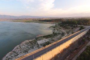 Reservoir of Bellus. Aerial view.