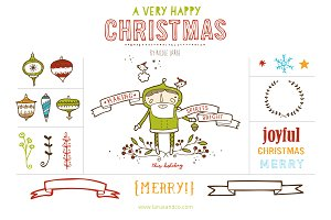 Happy Christmas (Clipart)