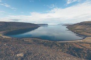 Western Icelandic sea coastline