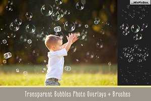Transparent Bubble Overlays +brushes