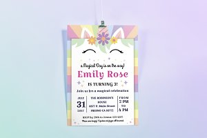 Happy Unicorn Birthday Invitation