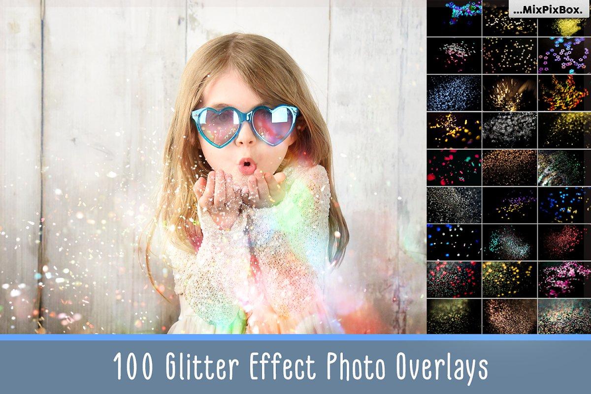 Glitter Effect Photo Overlays ~ Photoshop Add-Ons ~ Creative