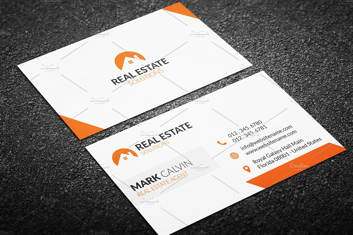 Real estate business card 34 business card templates creative real estate business card 34 business card templates creative market magicingreecefo Image collections