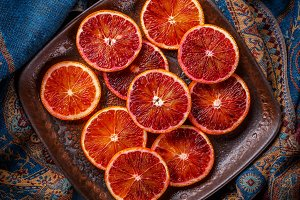 Sicilian blood orange slices