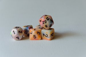 Multi sided numbered dices