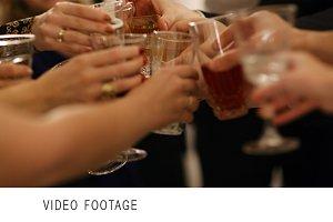 Group of people toasting celebration