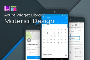 Material / Axure widget library