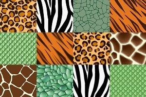 Animal print seamless pattern pack