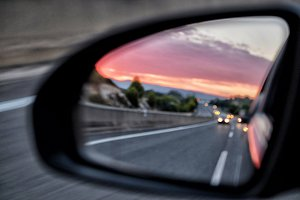 Rearview mirror car