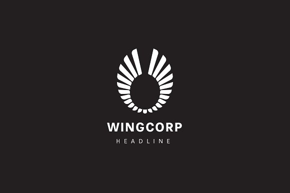 Wing corporation logo. in Logo Templates