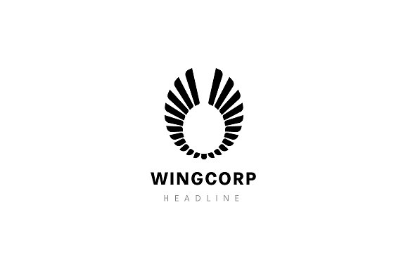 Wing corporation logo. in Logo Templates - product preview 2