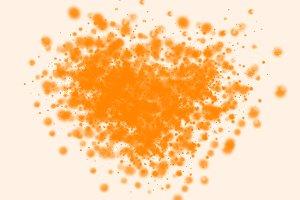 An orange spot