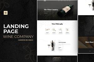 Wine Company - Elementor Pro Layout