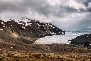 Athabasca Glacier located in Jasper National Park