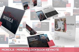 Monola - Minimal Lookbook Keynote