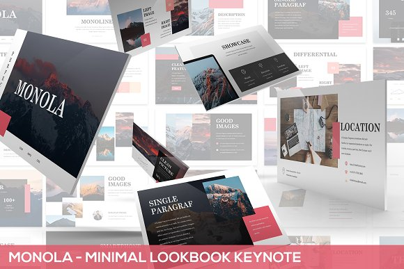 Monola Minimal Lookbook Keynote
