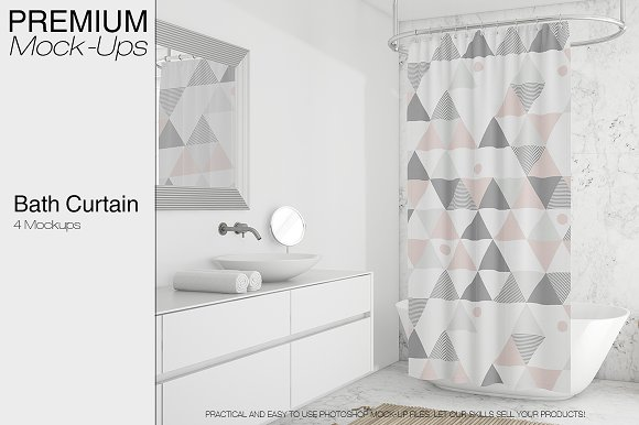 Download Shower Curtain Mockup Pack