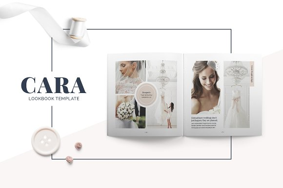 cara lookbook template brochure templates creative market