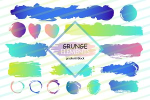 Grunge elements/Gradient/Black