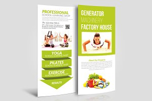 Fitness & Health Rack Card Template