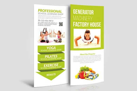 Fitness Health Rack Card Template
