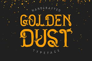 Golden dust typeface