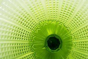 Green glass textured surface