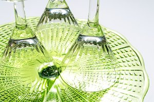 Green glass textured surface