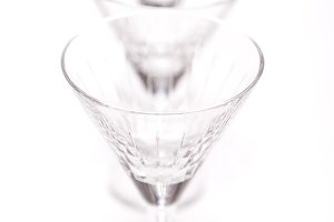 set of crystal glasses