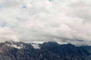 mountains in Montenegro with fog