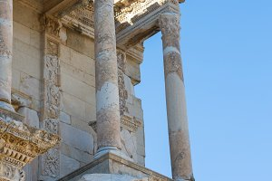 Selcuk, Izmir - Turkey. 25 November 2014. Celsus Library. The Ancient City of Ephesus in Selcuk, Izmir - Turkey