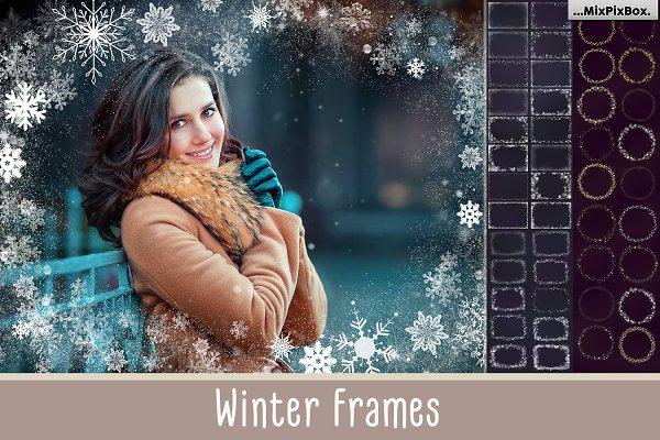 A big set of Winter Frames