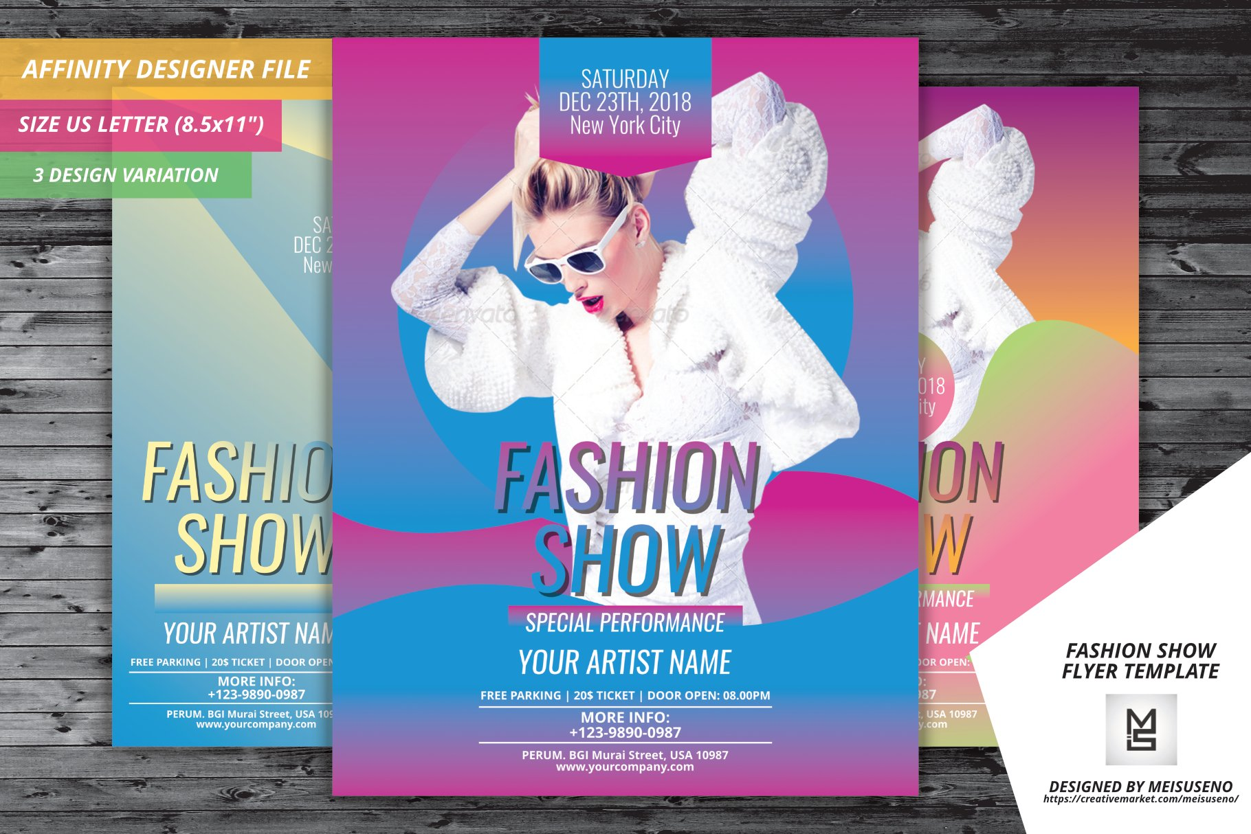 Fashion Show Flyer Template Flyer Templates Creative Market - Free fashion show flyer template