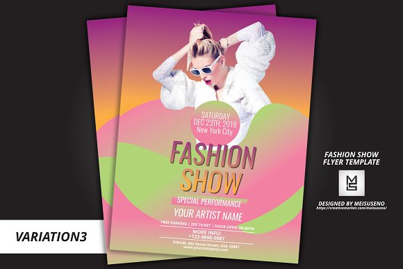 Fashion Show Flyer Template Flyer Templates Creative Market - Fashion show flyer template
